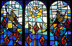 Pentecost stained glass - Boone Tabernacle Church of God in Christ