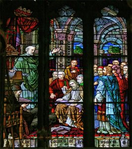 Acts 15 Jerusalem council stained glass