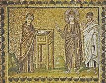 Mark 12-42 widow, mite mosaic