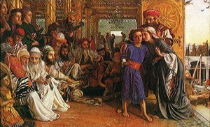 """William Holman Hunt, """"Finding of the Saviour in the Temple,"""" 1854-60"""