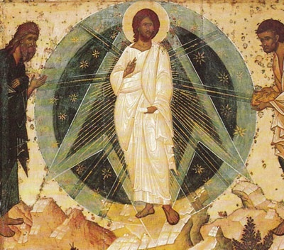 Jesus Transfiguration icon Luke 9