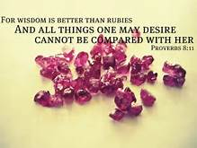 Prov 8 wisdom better than rubies