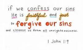 1 John 1-9 if we confess our sins