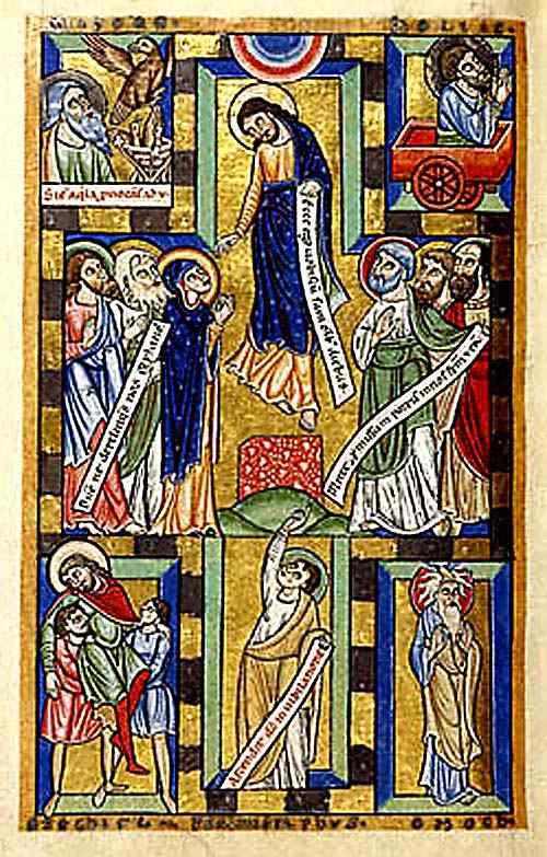 Acts 1-9 Ascension ENLUMINURES HILDERSHEIM