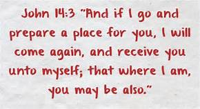 John 14-3 prepare a place, words