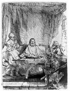 Luke 24 Supper at Emmaus, Rembrandt