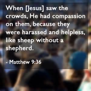 Matt 9-36 compassion, words