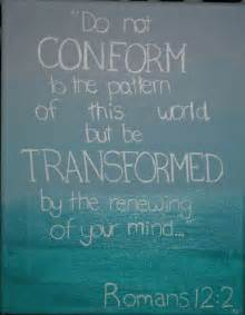 Rom 12-2 be transformed, words