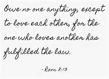 Rom 13-8 love one another, script