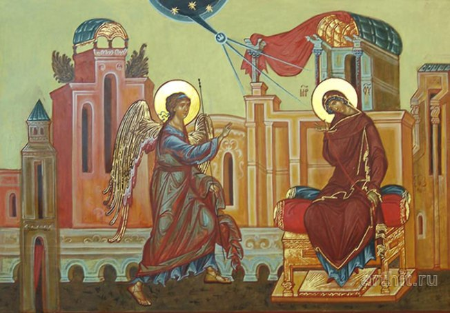 Luke 1-38 annunciation icon
