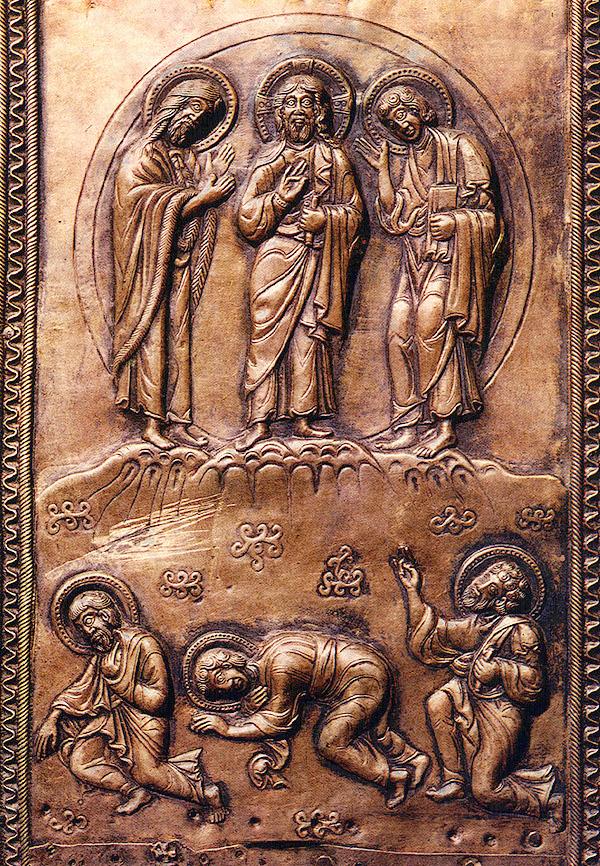 Jesus Transfiguration Georgian relief Luke 9