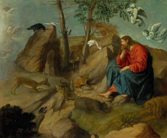 Mark 1-16 Jesus, wildreness, animals