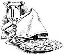 communion line drawing