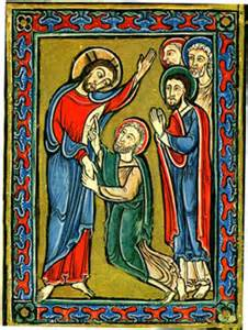 Jesus and Thomas illustration John 20-24