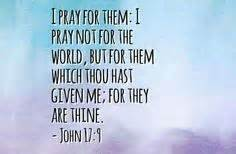 John 17-9 Jesus prays for us