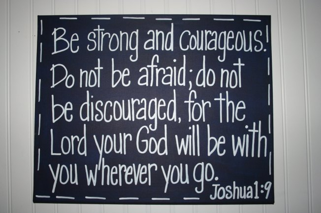Josh 1-9 be strong, poster
