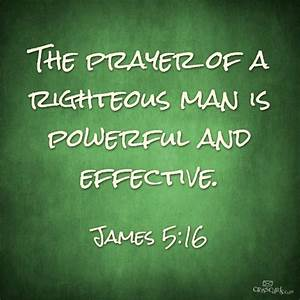 James 5-16 prayer of righteous, words