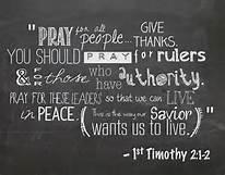 1 Tim 2-2 pray, words