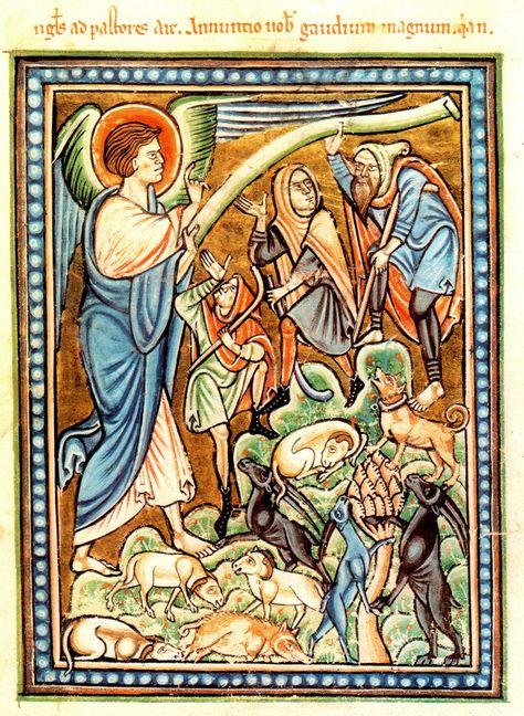 Shepherds, Annunciation, Oxford Bodlean Library