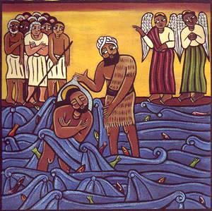 luke 3-21 african depiction baptism