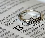 1 Cor 13 love, ring