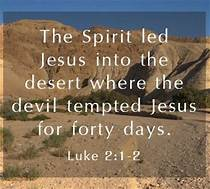 Luke 4-2 devil tempted
