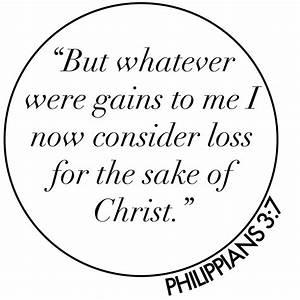 Phil 3-7 consider things loss, circle