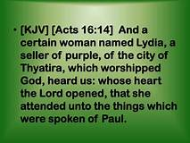 Acts 16-14 Lydia, words