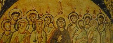 Acts 2 Pentecost mural