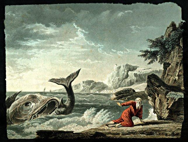 Jonah spitout, painting