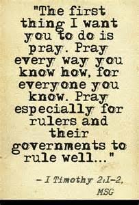 1 Tim 2-2 pray, message