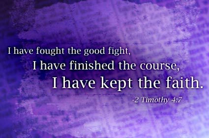 2 Tim 4-7 kept faith, purple