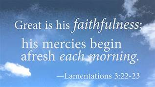 Lam 3-23 faithfulness, clouds
