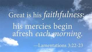 Lam 3-23 faithfulness, clouds
