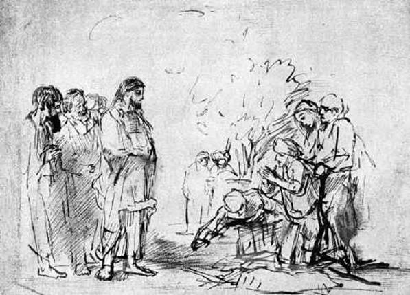 Luke 17-18 rembrandt