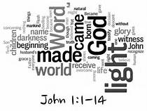 John 1 1-14 word cloud