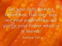 Matt 5-16 light so shine