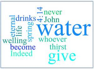 John 4-14 word cloud