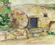 Jesus and empty tomb