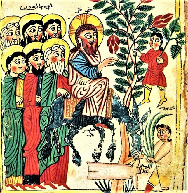 Jesus Palm Sunday, Armenian manuscript
