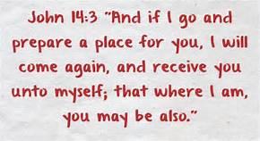 John 14-3 prepare a place, words