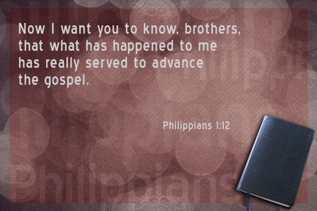 Phil 1-12 advance Gospel